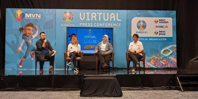 Konferensi pers virtual yang digelar MNC Vision Networks (MVN) dalam rangka menyambut Euro 2020 pada Kamis (10/6/2021) sore WIB.(Dok. MNC Vision Networks)