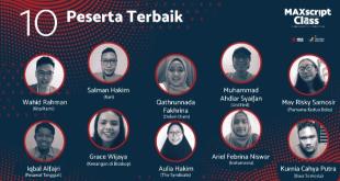 tangkapan layar sepuluh peserta terbaik Maxscript Class Award 2020. (indoposonline.net/achmad sukarno)