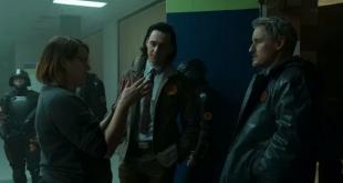 "Kate Herron, Tom Hiddleston, dan Owen Wilson dalam behind the scenes ""Loki"" (2021)."