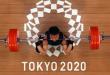Lifter Indonesia Rahmat Erwin Abdullah melakukan angkatan di saat laga grup B angkat besi kelas 73 kg putra Olimpiade Tokyo 2020, di Tokyo International Forum, Tokyo, Jepang, Rabu (28/7/2021). Rahmat memimpin Grup B di nomor 73 kg putra dengan total angkatan 342 kg. (indoposonline.NET/REUTERS/Chris Graythen/foc.)